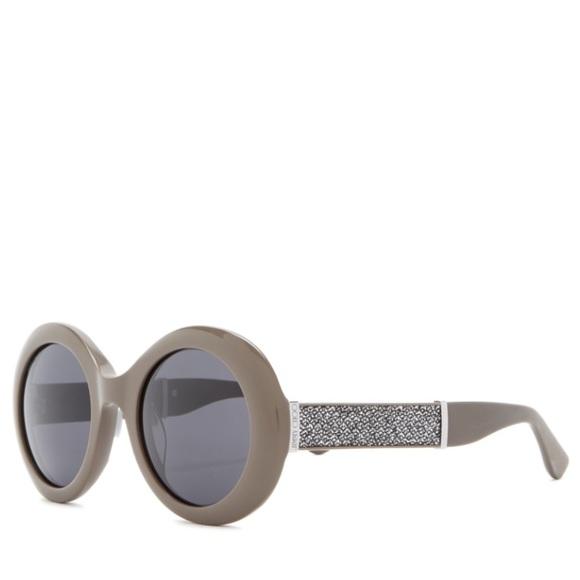 f76b44bfb15 Jimmy Choo 51mm Wendy Round Glitter Sunglasses